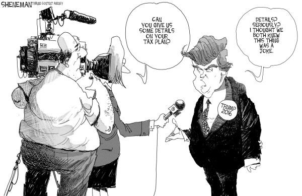 Trump tax plan comic