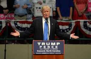 Trump gestures at a campaign rally in Concord, N.C., Thursday, Nov. 3. (Photo:Tribune News Service)