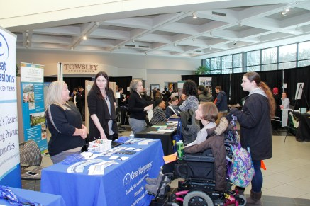 Many equal opportunity employers, like Great Expressions Dental Centers spoke to potential candidates to fill their open positions at Wednesday's Career Fair.