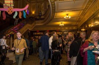 Audiences enjoy the kick-off cocktails and food from some top of the line local vendors inside the Michigan Theatre. Download permissions
