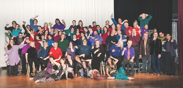 The performers, cast and crew of the Out Loud Chorus. The Enchanted Escape concert was performed on Friday and Saturday, Jan. 19 and 20 at Towsley Auditorium.Photo curtesy| Tim Howley