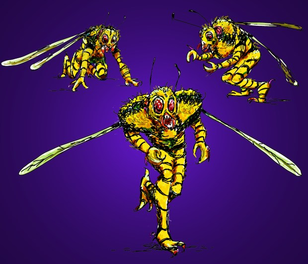 Wasp-Men concept art