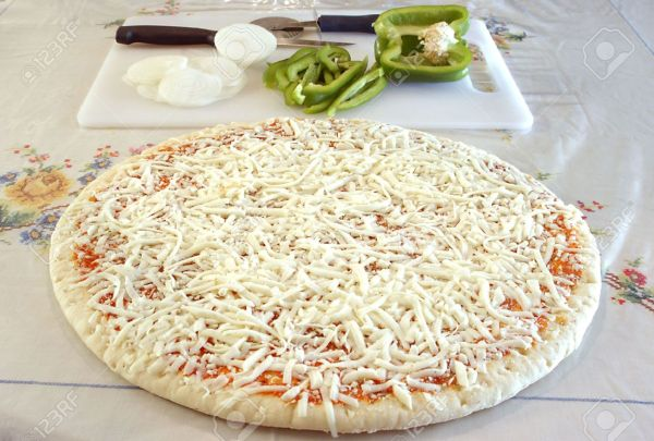 Raw Uncooked Pizza