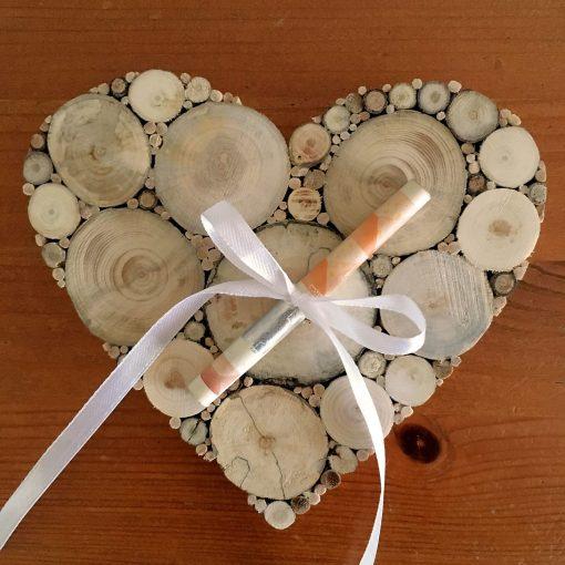 Geldgeschenk Hochzeit Herz Holz