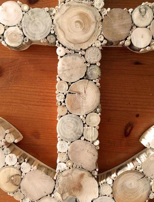 Anker aus Treibholzscheiben Detailansicht