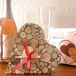 Geldgeschenk Hochzeit oder Geburtstag Holz Herz