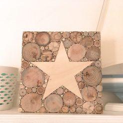 Holzbild mit Stern