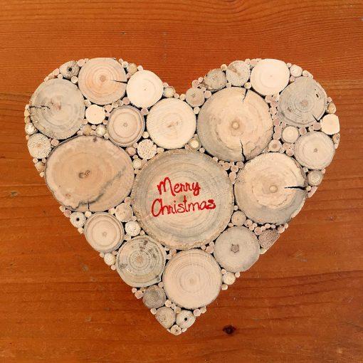 Herz Treibholz Weihnachten