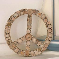 Peace Zeichen aus Treibholz