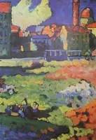 Wassily Kandinsky. Munich-Schwabing With The Church Of St. Ursula, 1908