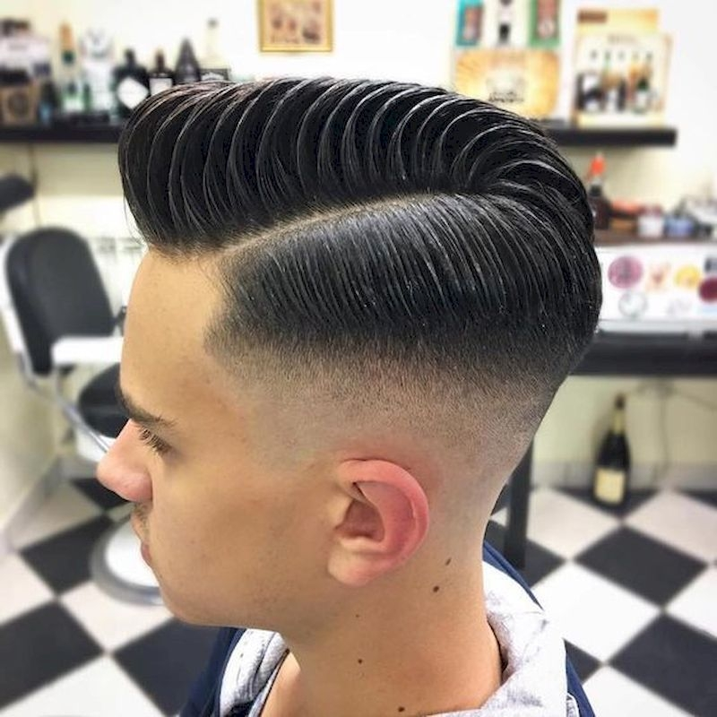 Haircuts for men with hair combed sideways