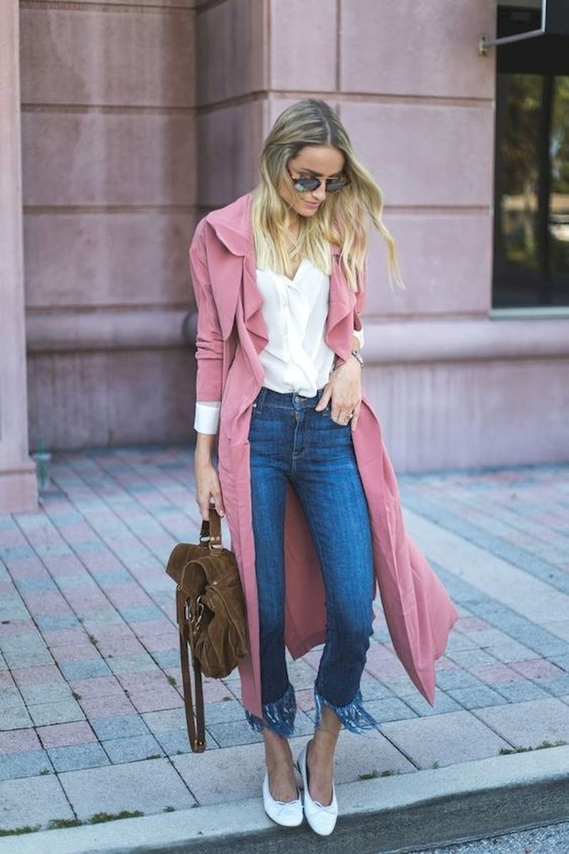Spring outfit style with coat