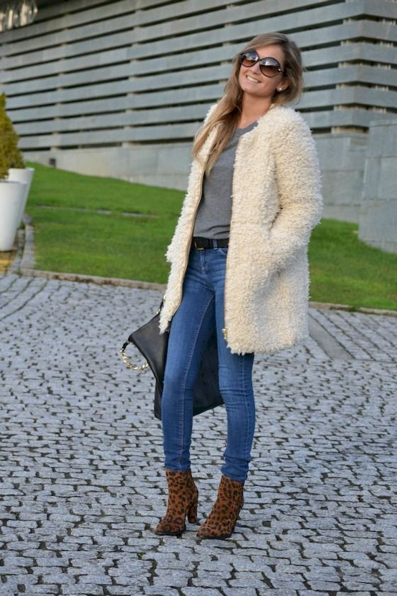 Women outfits with leopard ankle boots