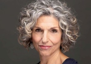 Women over 50 with white silver grey hair