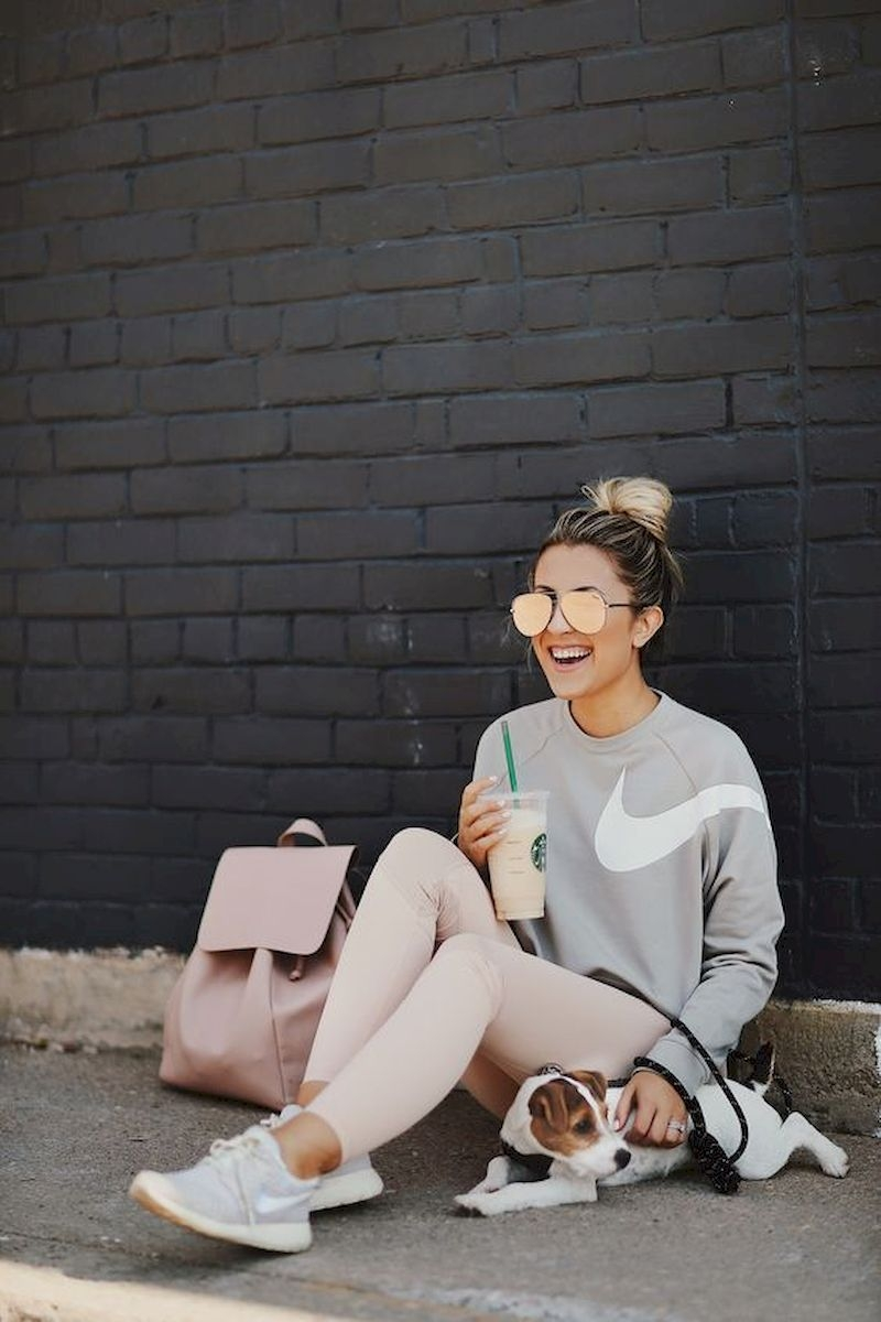 Sporty outfits for school with sweater