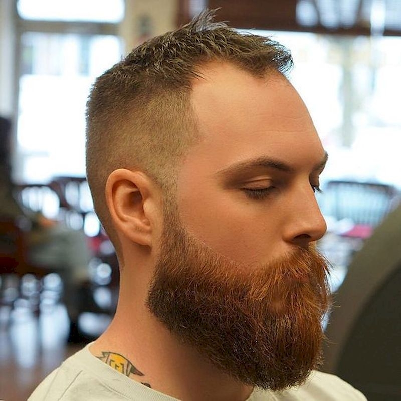 Hairstyles for bald men with thin side-to-back hair and short upper sides
