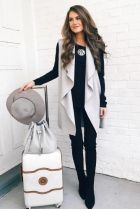 51 Fall Travel Outfit Ideas For You Who Always On The Go (16)