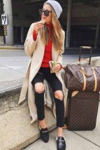 51 Fall Travel Outfit Ideas For You Who Always On The Go (25)