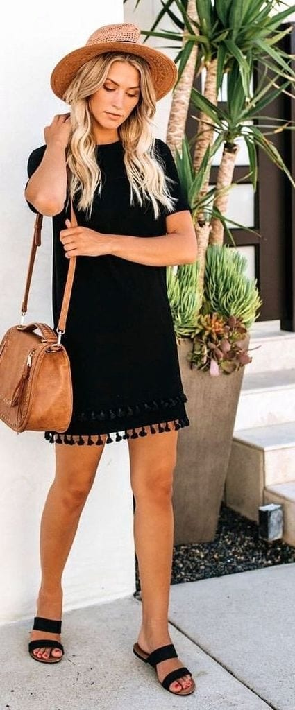 Summer outfit with black dress