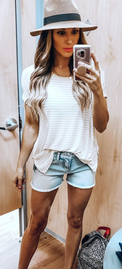 25+ Brilliant Summer Outfits To Copy ASAP - white stripe top #summer #outfits #summeroutfits #summerfashion #summerstyle