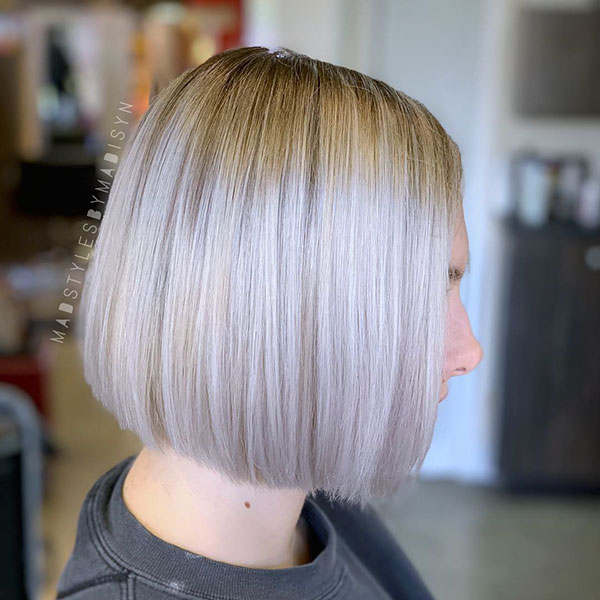 Short Blonde Straight Haircut