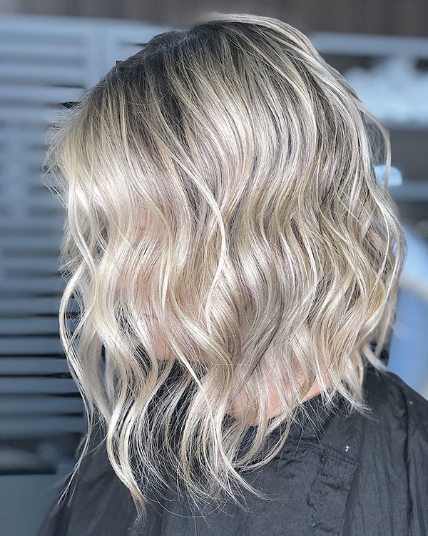 Silver Blonde Short Hair