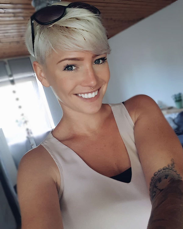 Short Bleach Blonde Hair