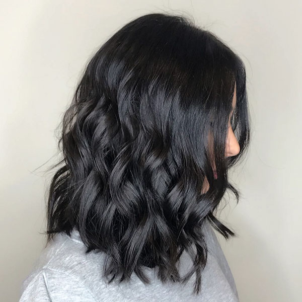Short Black Wavy Hair