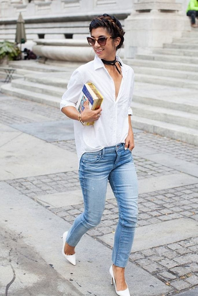 Summer outfit with white shirt