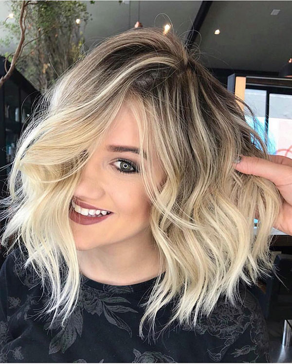 Blonde Balayage Short Hair