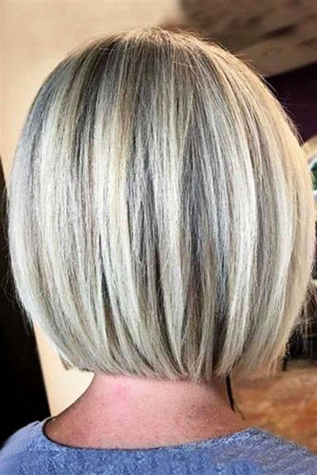 Short Bob Haircut for Women, Bob Silver Grazing Women