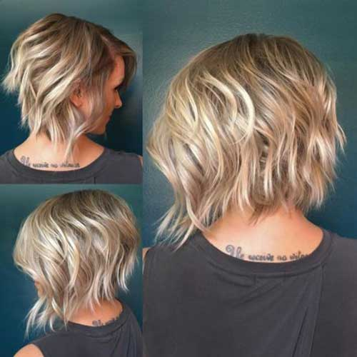 Wavy Short Choppy Layered Hair-6