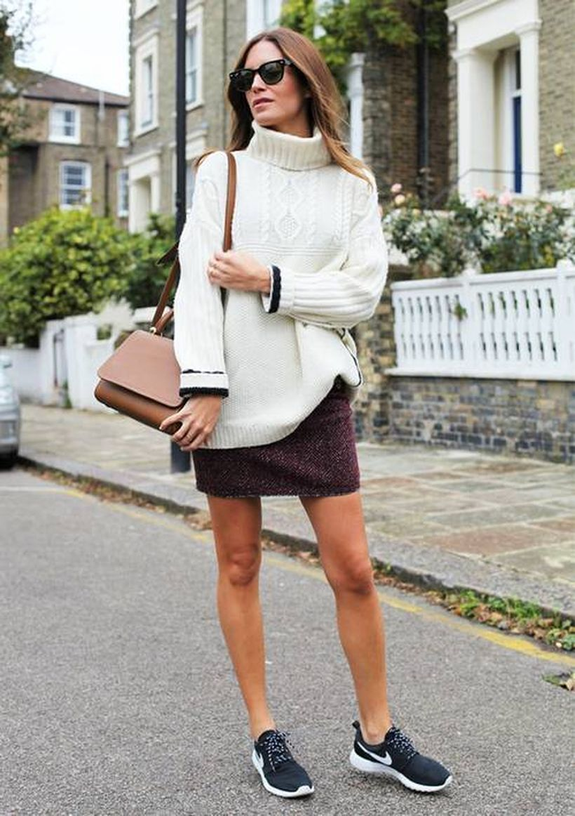 White-knit-sweater-and-mini-skirt