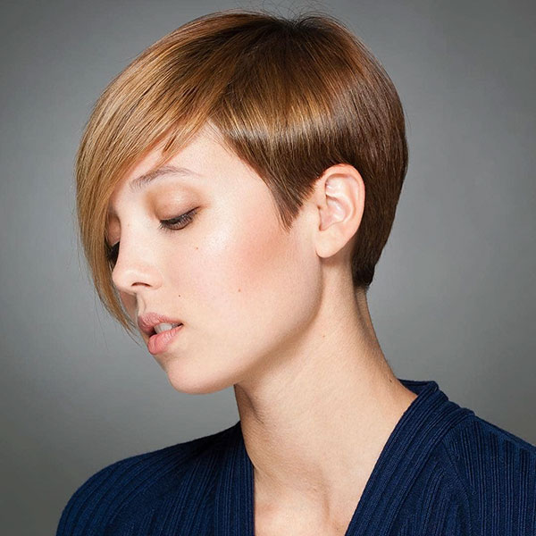 Short Pixie Cut With Long Side Bangs