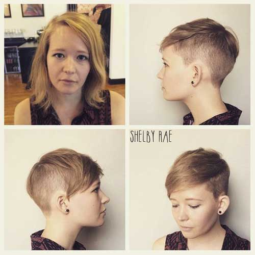 Sand Blonde Pixie Hair 2018