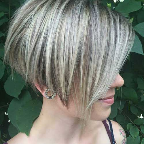 2017 Short Blonde Hair