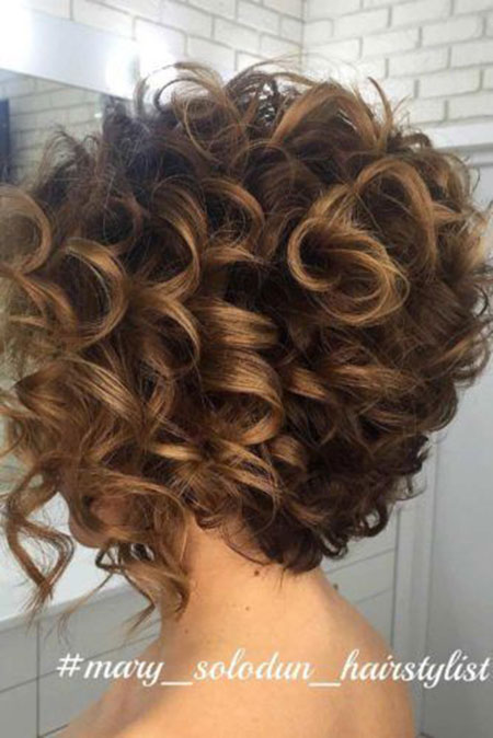 Curly Short Hair Wedding