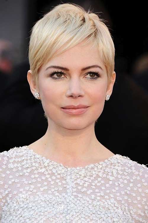 Best Short Blonde Straight Hair And Round Faces