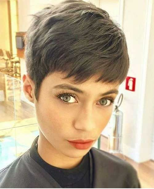 Straight Hair Pixie Cuts