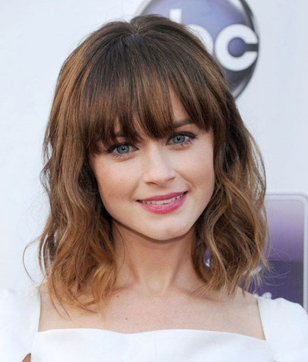 Bangs Length Medium Bledel