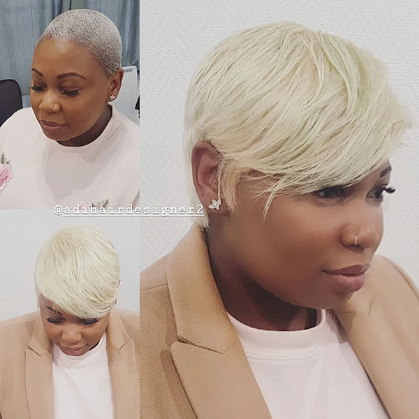 Blonde Pixie Cut For Black Women