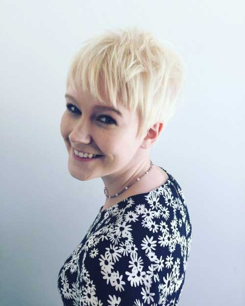 Blonde Layered Short Pixie Haircuts