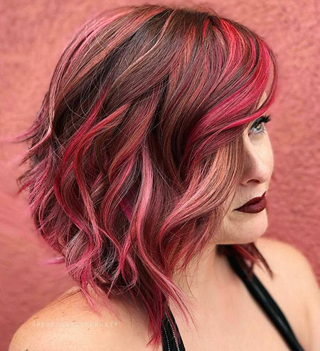 Color Balayage Red Pink