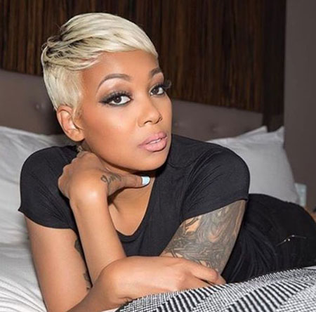 Short Blonde Hairstyles for Black Women 2018