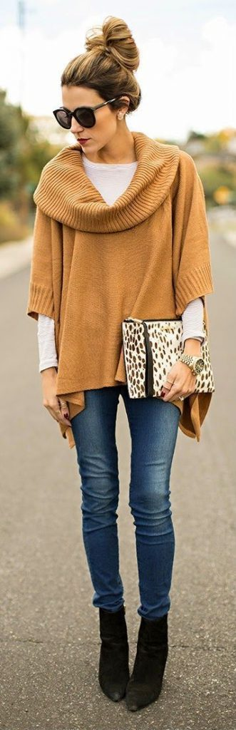 #fall #outfits / Turtle Neck Tunic