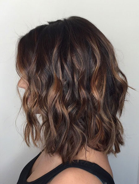 Balayage Hair Short Dark