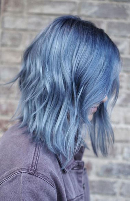 Hair Blue Color Dry