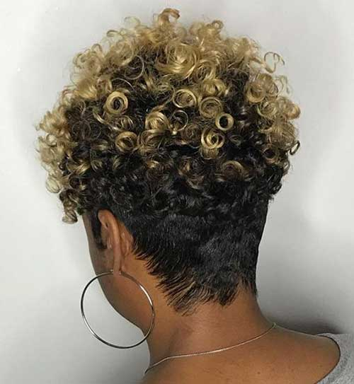 Short Haircuts for Women with Thick Curly Hair -7
