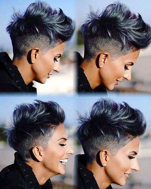 Edgy Short Haircuts for Women with Thick Hair-15