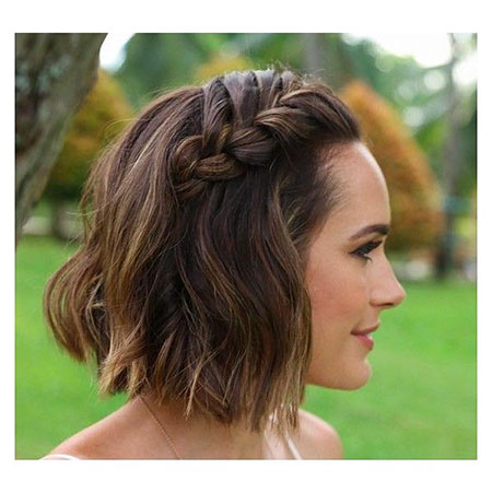 Braided Bob, Braided Wavy Short Cute